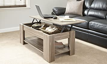 MODERN CONTEMPORARY EXCLUSIVE WALNUT LIFT UP COFFEE TABLE LIVING ROOM CENTRE LARGE STORAGE AREA
