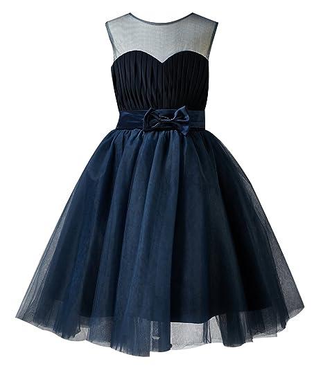Thatylee Satin Tulle Tutu Flower Girl Dress Kids Toddler Little Girl Dress  Wedding