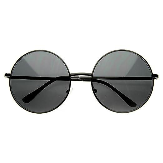 220688cd2db MLC EYEWEAR ® Vintage Large Oversized Metal Round Circle Sunglasses (Black  Gradient