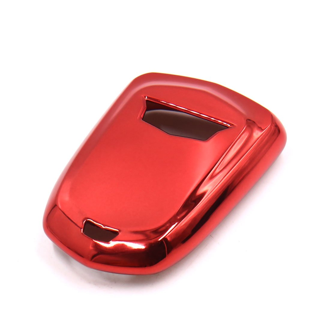 uxcell Red Plastic Remote Key Case Holder Shell Protect Cover Fit For Cadillac
