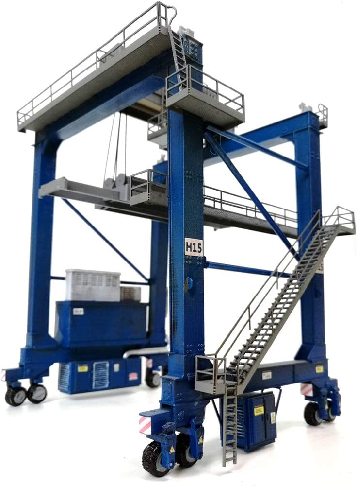 Yamix HO Scale Model Train Container Crane Model, 1:87 Scale Container Crane HO Scale Building Kit