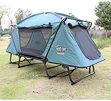 Tienda libre tiendas de campaña al aire libre de camping tiendas de campaña de la tierra Plus sección Camping plegable cama tiendas de campaña: Amazon.es: Deportes y aire libre