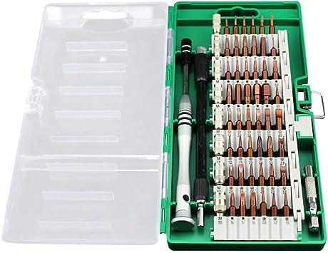 Juego de destornilladores, 60 piezas, destornilladores de precisión mini, huichang, estuche de herramientas de reparación de destornilladores portátil, juego de destornilladores para teléfono, portátil, reloj, juguetes, gafas, etc., verde: Amazon.es ...
