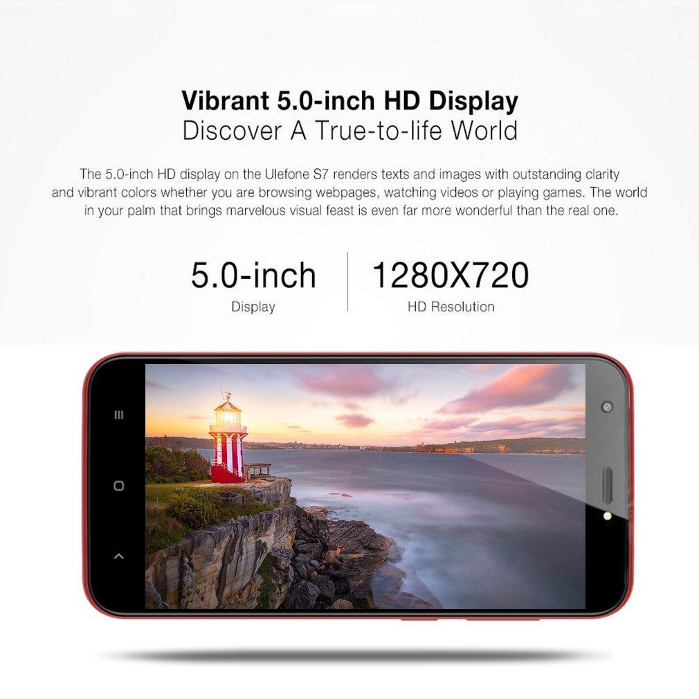 ULEFONE S7- Móviles Libres 3G (Android 7.0 Pantalla de 5.0,Cámara Trasera de 13.0MP , 16GB de ROM , 2GB de RAM, MTK6580 1.3GHz Quad Core , Dual SIM 2500mAh ...
