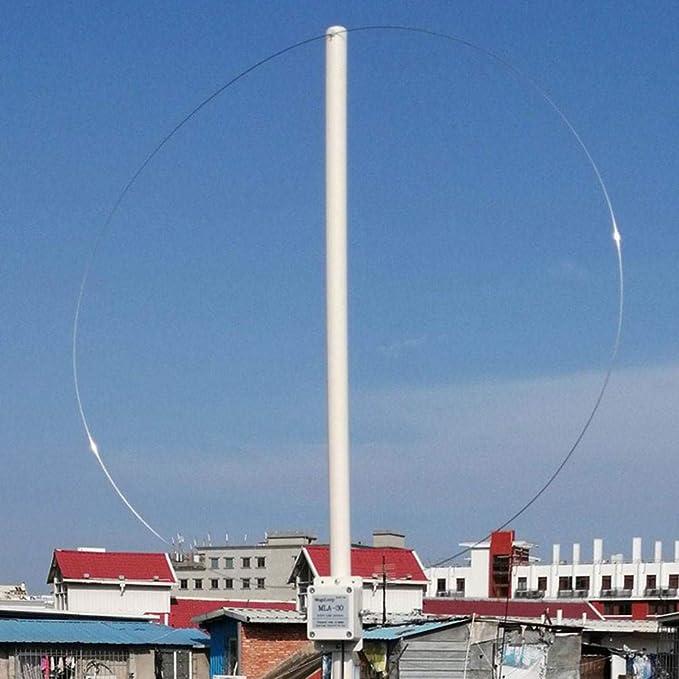 Calistouk Antena receptora Activa de Bucle de 100 kHz-30 MHz ...