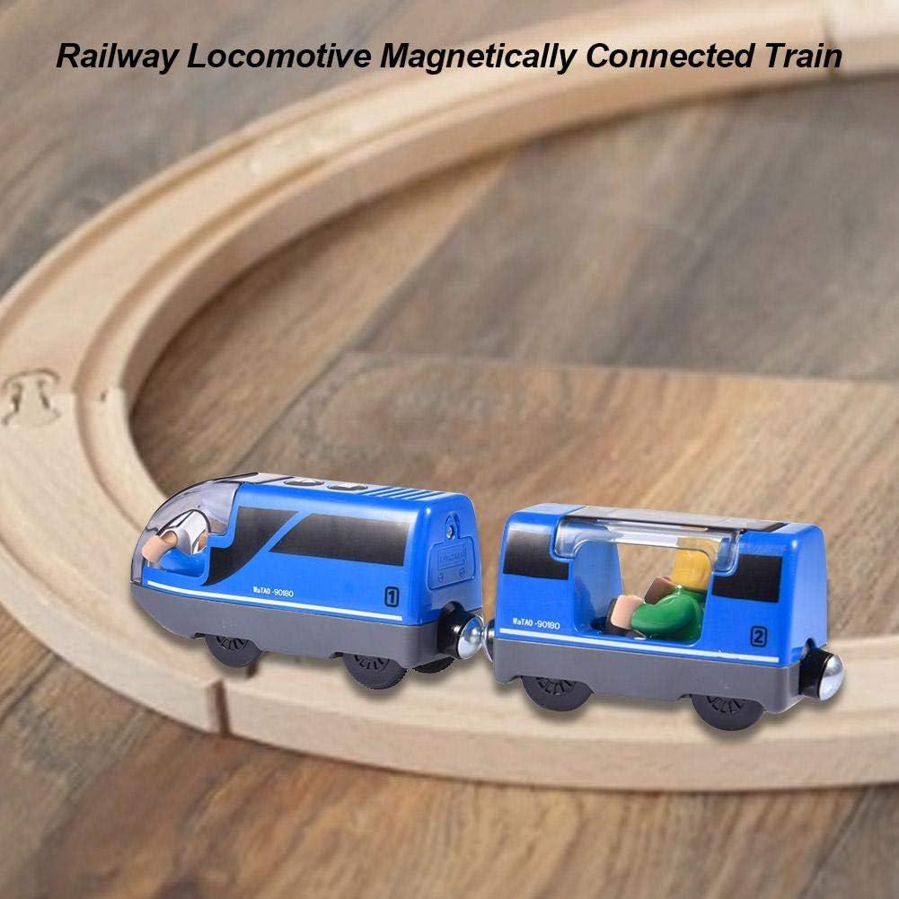No Incluye Riel De Madera Tren De Carga para Ni/ños Locomotora Tren Compatible para BRIO Pista De Madera fervory Tren Juguete Electrico Ni/ños