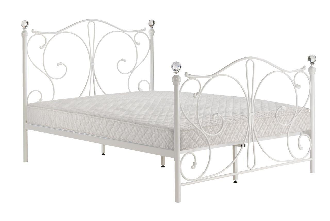 Estructura para cama de matrimonio con veta JYSK Ramten embellecedores para extremos de protector de pantalla de cristal blanco: Amazon.es: Hogar