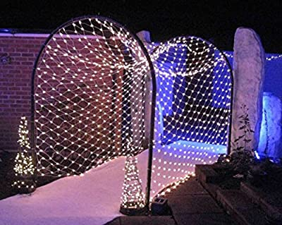 Fairy LED Net Lights Indoor Outdoor, Mesh String Netting for Bushes Tree Wrap Wedding Christmas Patio Garden Party Decorations, Connectable