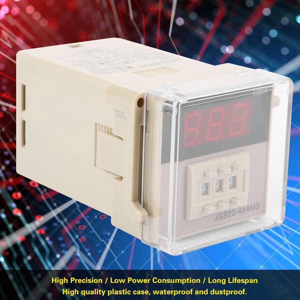 AC 220V JSS20-48AMS Pantalla digital Encendido Tiempo de retardo del temporizador de retardo Rango de tiempo 1-999S