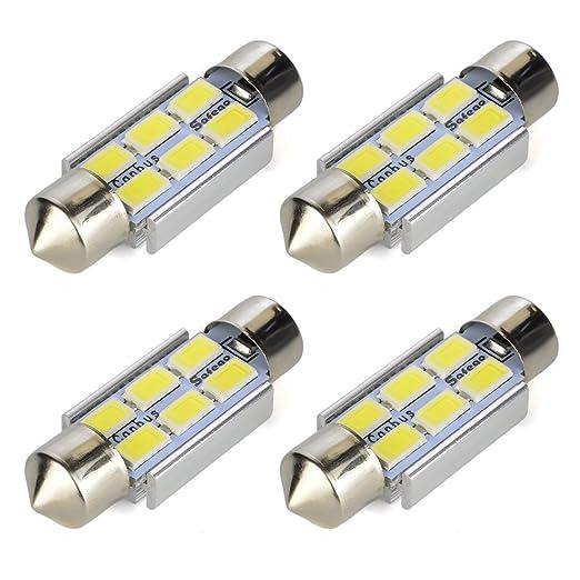 12 opinioni per Safego 4x C5W 36mm LED Canbus LED Lampadine AUTO cupola del festone luci interne