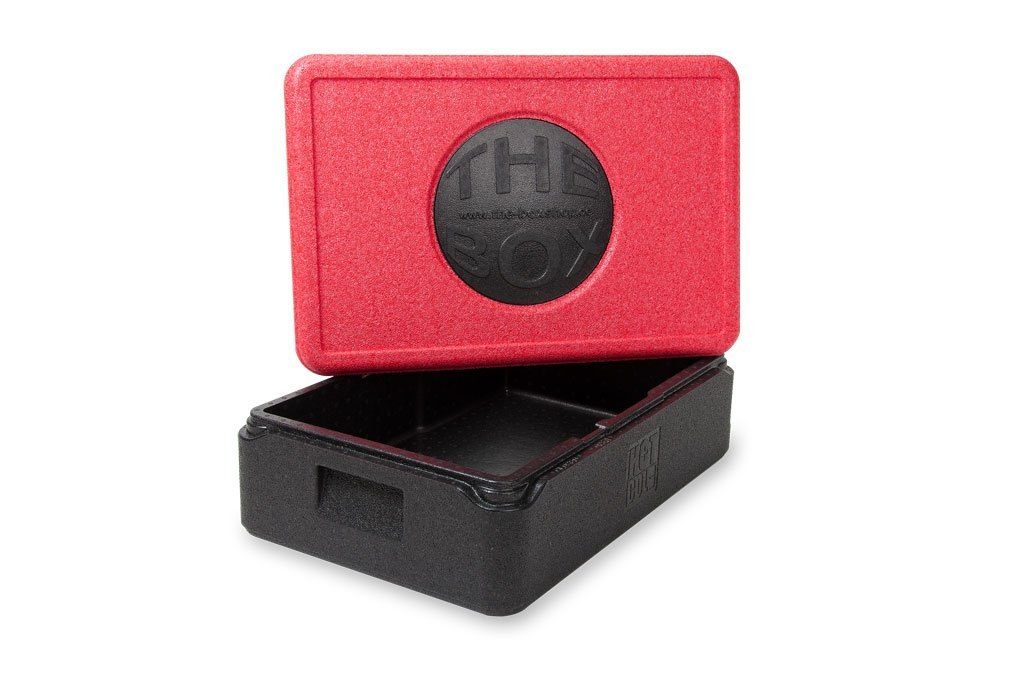 *6er Paket* - THE BOX Thermobox GN 1/1 groß 79883; rot, Außenmaß 60 x 40 x 27,5 cm, Innenmaß 54 x 34 x 21 cm, Nutzhöhe 21 cm, 38 l.