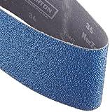 Norton 3X High Performance Portable Sanding Belt, Zirconia Alumina, 24'' Length x 4'' Width, Grit 36 Extra Coarse  (Pack of 2)