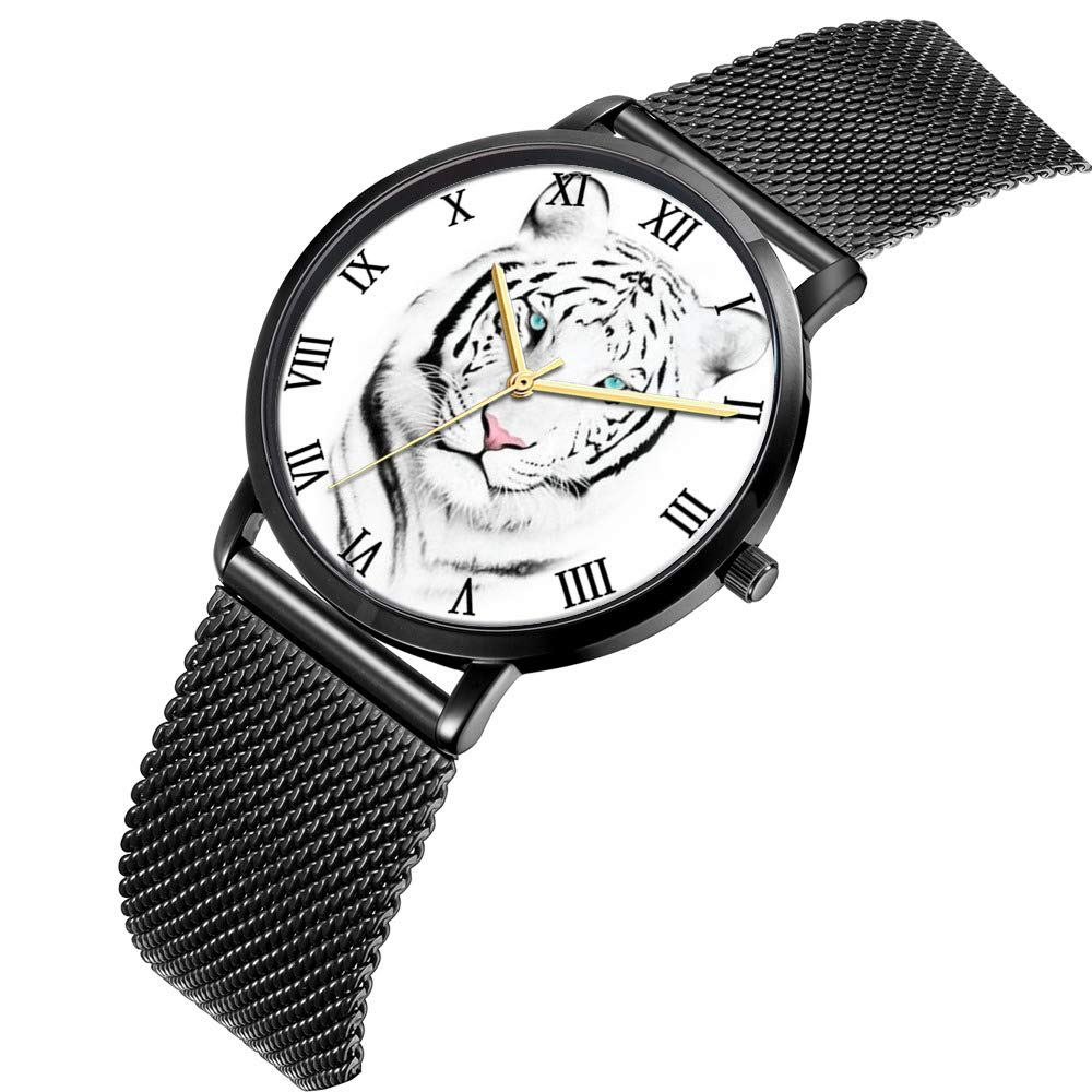 Amazon com: Whiterbunny Customized White Tiger Wrist Watch