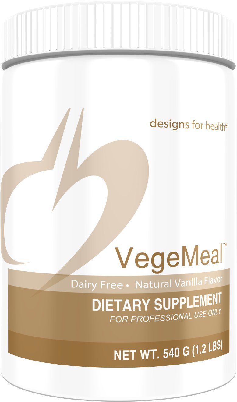 Designs for Health VegeMeal - Vanilla Pea Protein Meal Supplement Powder with 5-MTHF + Creatine (15 Servings / 540g) by designs for health