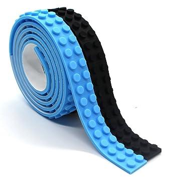 Amazon.com: Reusable Silicone Self-Adhesive Building Block Tape ...