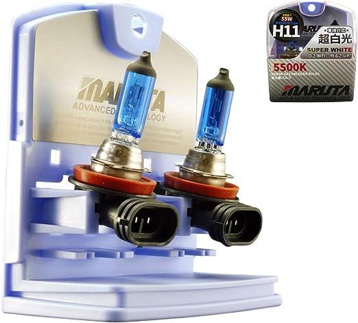 Maruta H11 Halogen Glühlampen Set Super White Mt 484 55w 12v Xenon Look 5500k E Prüfzeichen Auto