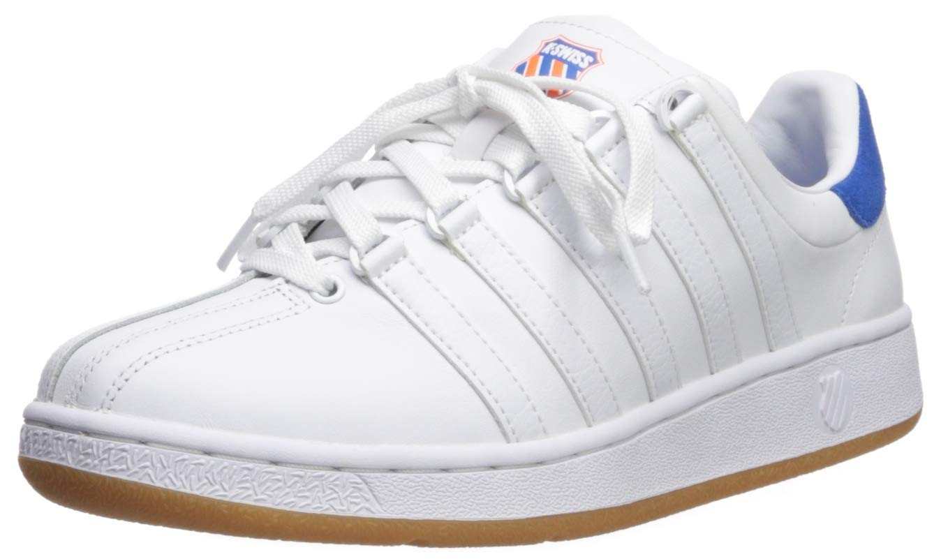 K-Swiss Men's Classic VN Heritage Sneaker white/directoire blue/vibrant orange 7 M US