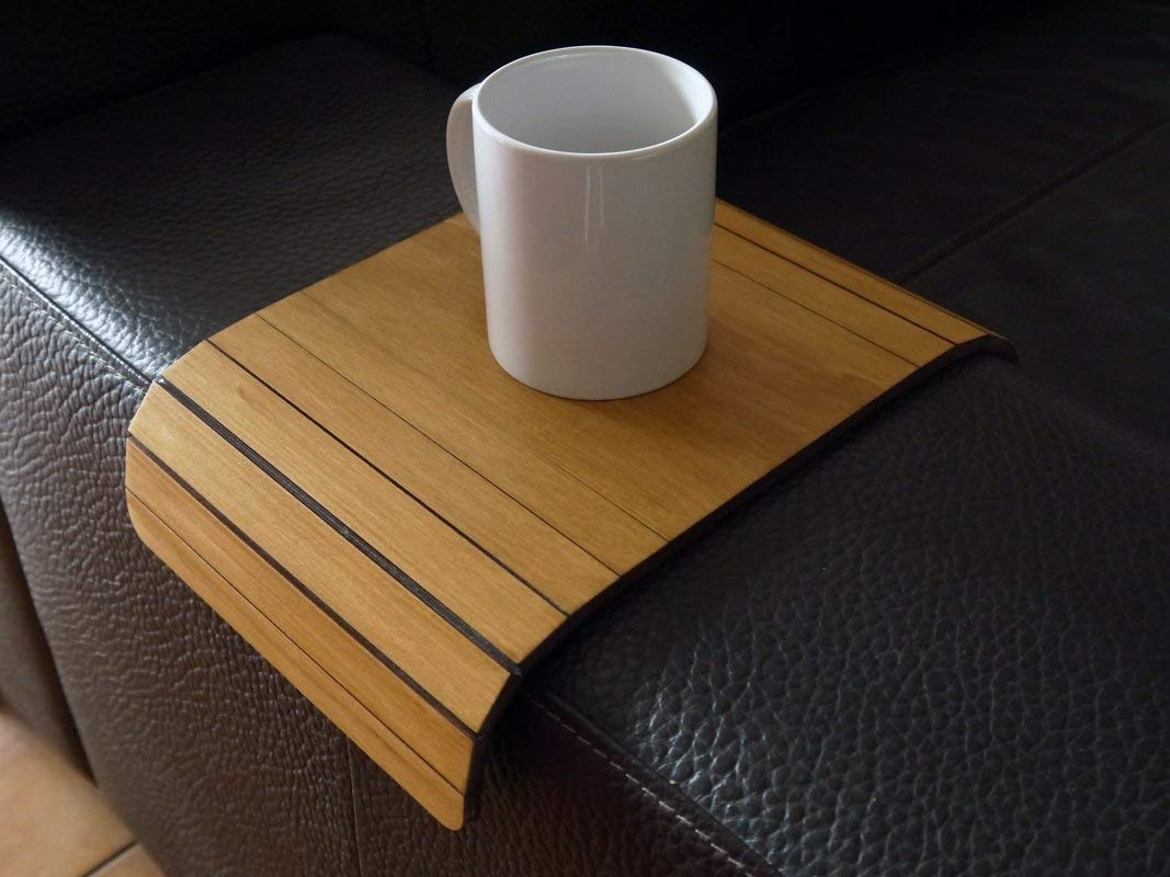 Fantastic Wooden Flexible Sofa Table For Armrest In Many Colors As Ncnpc Chair Design For Home Ncnpcorg