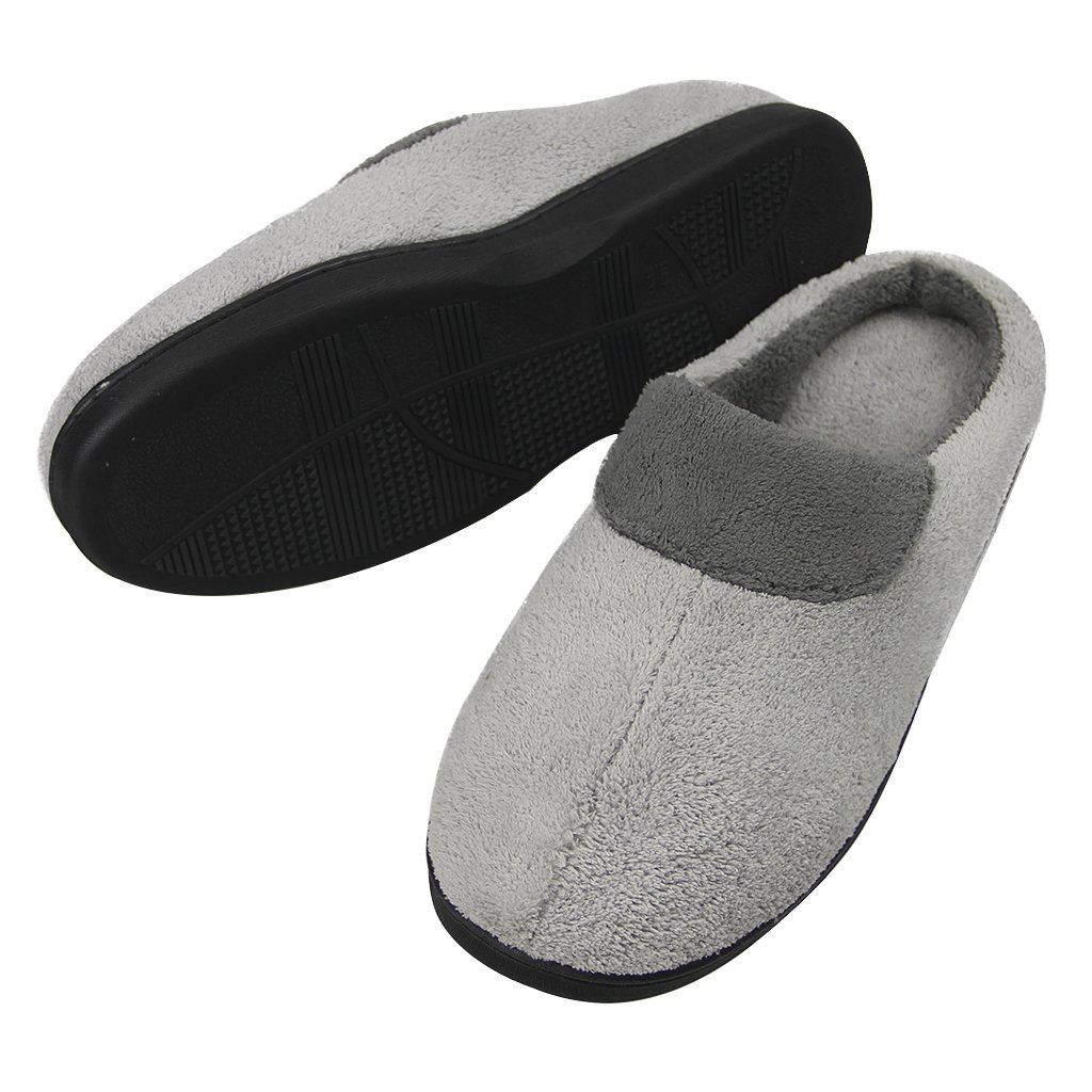 Men/'s House Slippers Memory Foam Slippers Plush Slip on Clog Bedroom Slipper