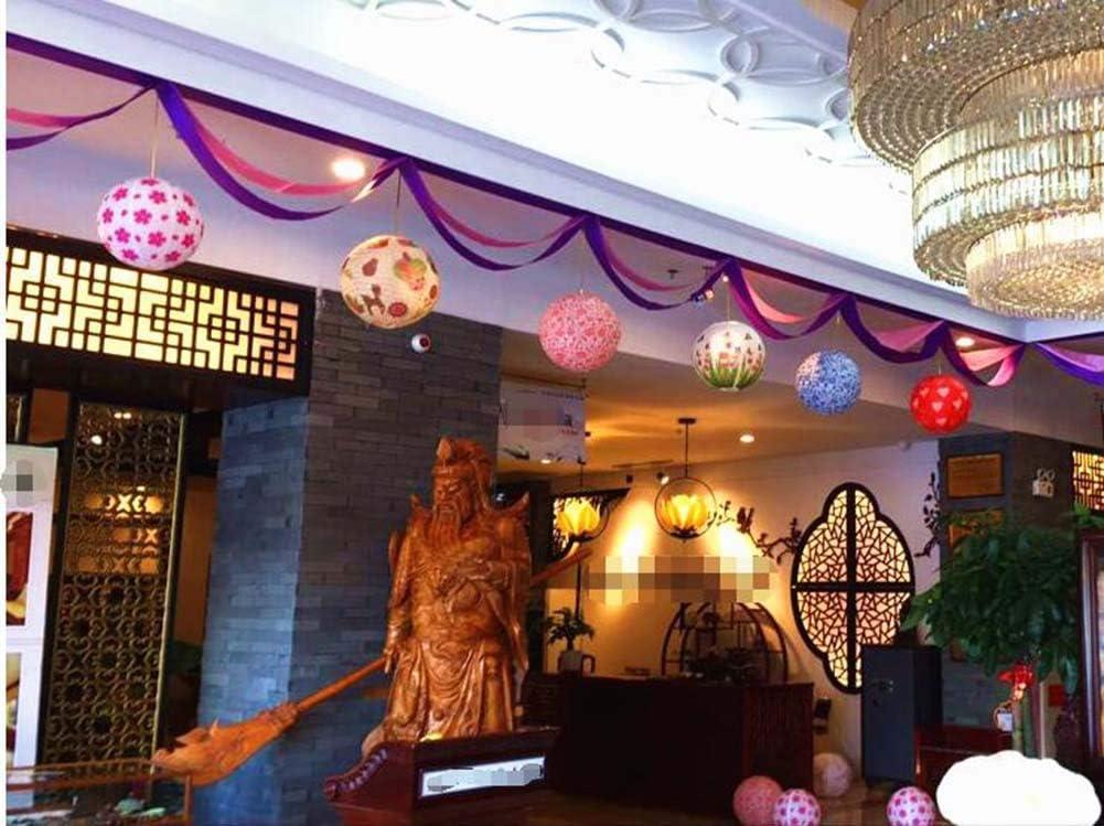 Fiori Panda/Legends Lanterna di Carta Decorativa a Sospensione in Stile Cinese//Giapponese Rotonda 16