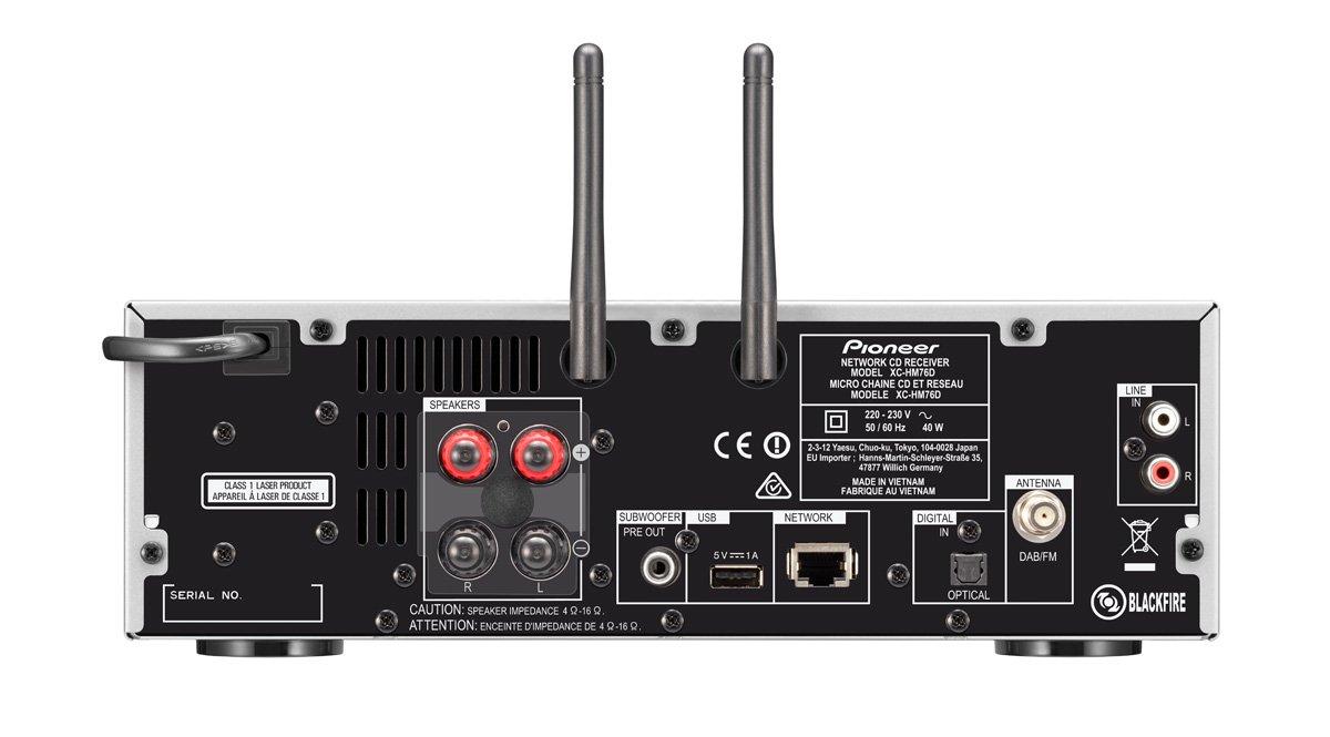 Pioneer X-HM76D-SB - Sistema Hight Micro (amplificadores Clase D y 50 x 2 vatios de Potencia, Radio Digital Dab, WiFi y Bluetooth): Amazon.es: Electrónica