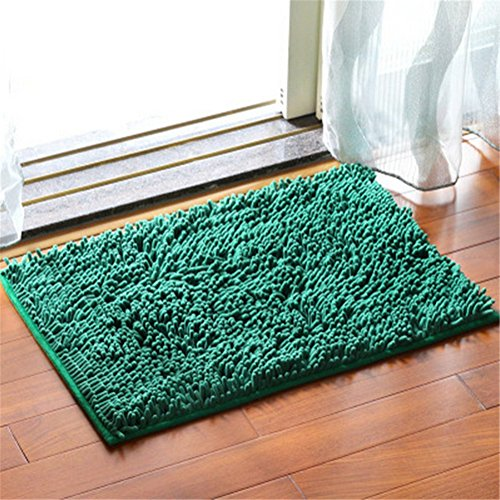 Non-slip Water-absorbing Entrance Welcome Mat Floor Bathroom Kitchen Living Room Indoor Outdoor Home Decorative Rug Mats Carpet (Deep Green) (Carpet Shampooer For Cheap compare prices)