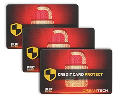 cdbb80f81b2f 3 x DreamTECH RFID & NFC Blocking Card - Ultimate Anti-Theft Security for  Credit/Debit/ID Card. Secure Your Identity and Financial Information with a  ...