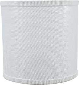"Aspen Creative 31058 Transitional Drum (Cylinder) Shaped Spider Construction Lamp Shade in White, 8"" wide (8"" x 8"" x 8"")"