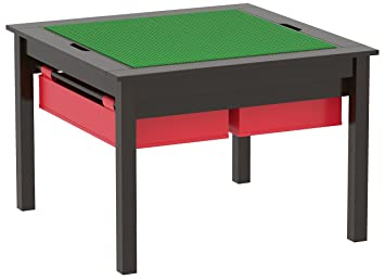 UTEX 2 In 1 Kids Construction Play Table And Chair Set, With Storage  Drawers And
