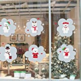 AmazingWall Xmas 6 Bear Snowman DIY Wall Sticker Kids Room Decoration Eco Friendly Removable Wall Poster 50x70cm/20x28