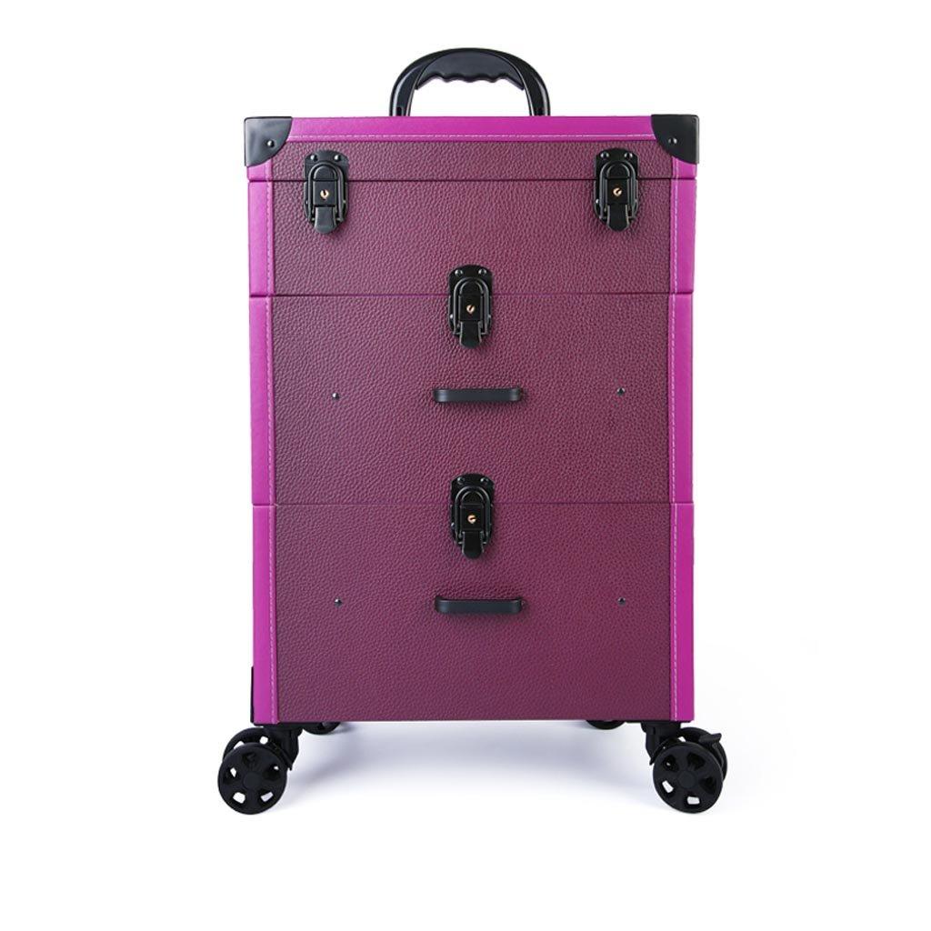 RY Werkzeughalter RKY Kosmetische Fall-Trolley Kosmetische Fall Aufbewahrungsbox Schönheit und Make-up Artist Trolley-Fall Multi-Layer-Toolbox Große Kapazität Caster Multifunktionaler Speicher