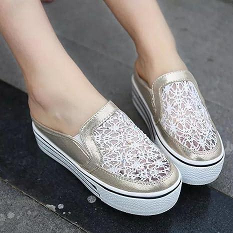 DM&Y 2017 Corea versi¨®n del diamante de malla transpirable sandalias y zapatillas gruesa