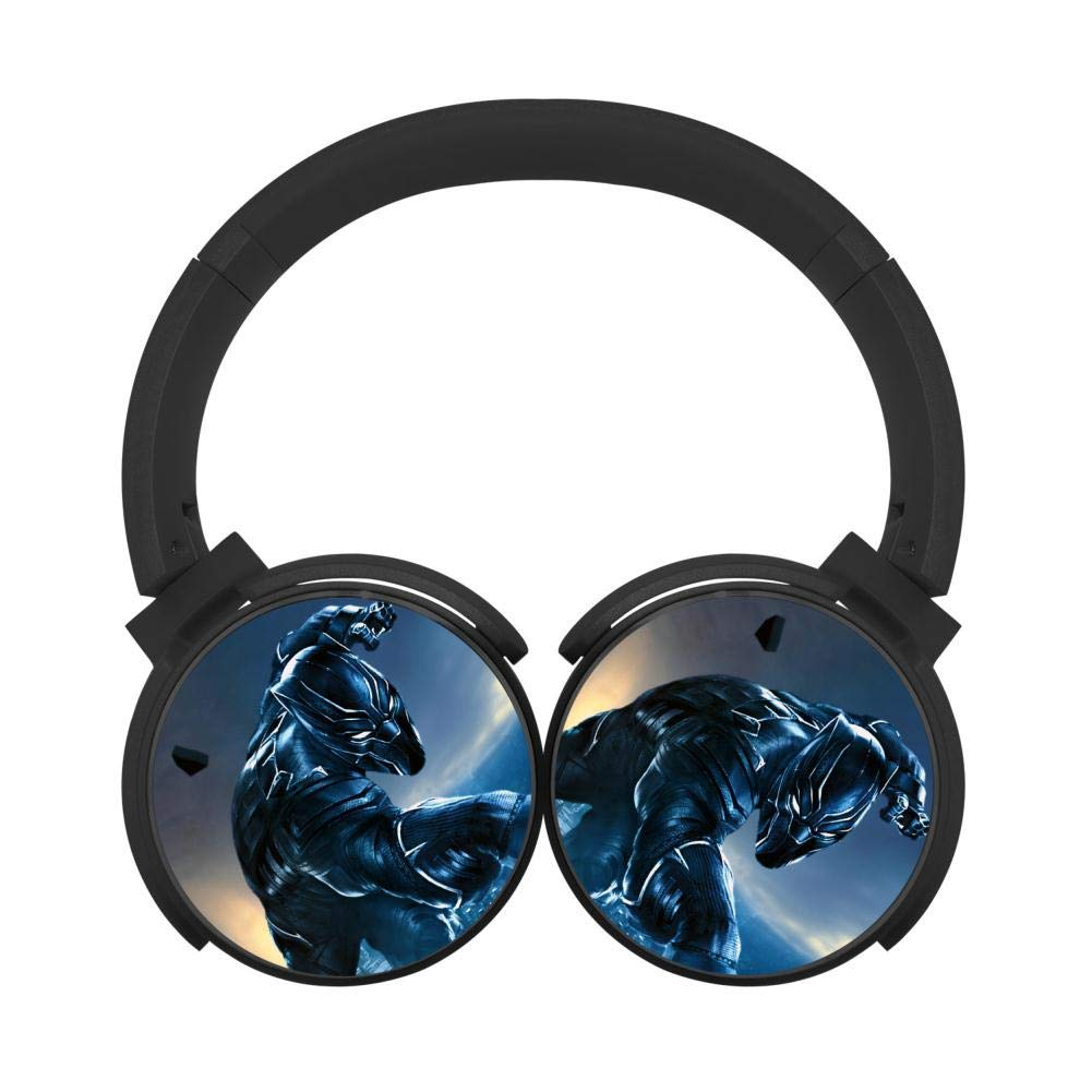 Mobile Wireless Bluetooth Headset Black Panther 3D Printing Over Ear Headphones Black