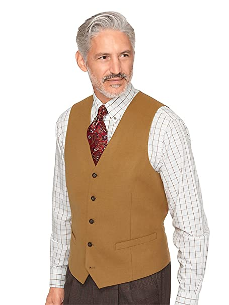 Men's Vintage Christmas Gift Ideas Paul Fredrick Mens Super 100s Wool Vest $109.95 AT vintagedancer.com