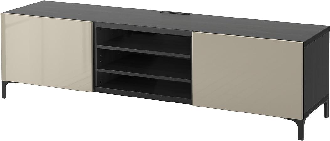 Zigzag Trading Ltd IKEA BESTA - Mueble TV con cajones Negro-marrón/selsviken Alto Brillo/Color Beige: Amazon.es: Hogar