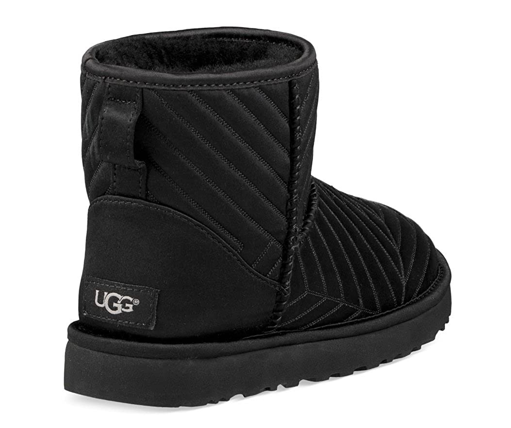 Amazoncom Ugg Womens Classic Mini Quilted Satin Boot Boots
