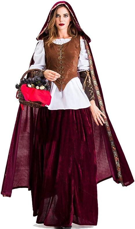 HJG Disfraz de Caperucita Roja para Mujer con Capa de Terciopelo ...