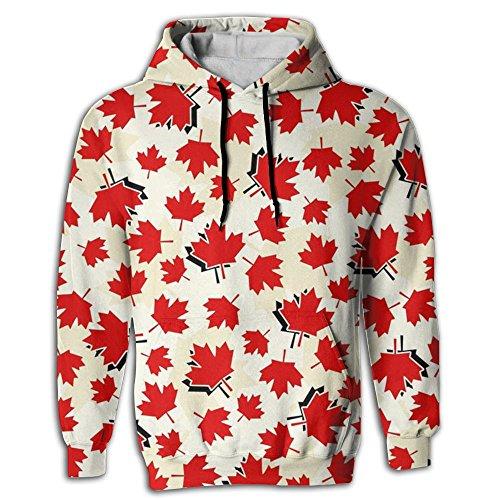 Nordic Runes Maple Leaf Cute Hoodies for Mens/Womens Unisex Graphic Hooded Sweatshirt -