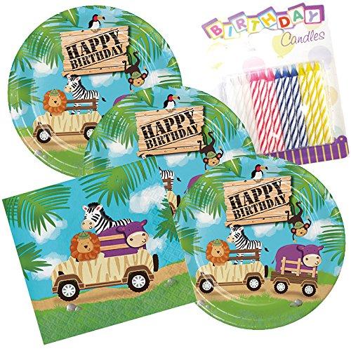 Safari Aventura feliz cumpleaños tema platos y servilletas ...