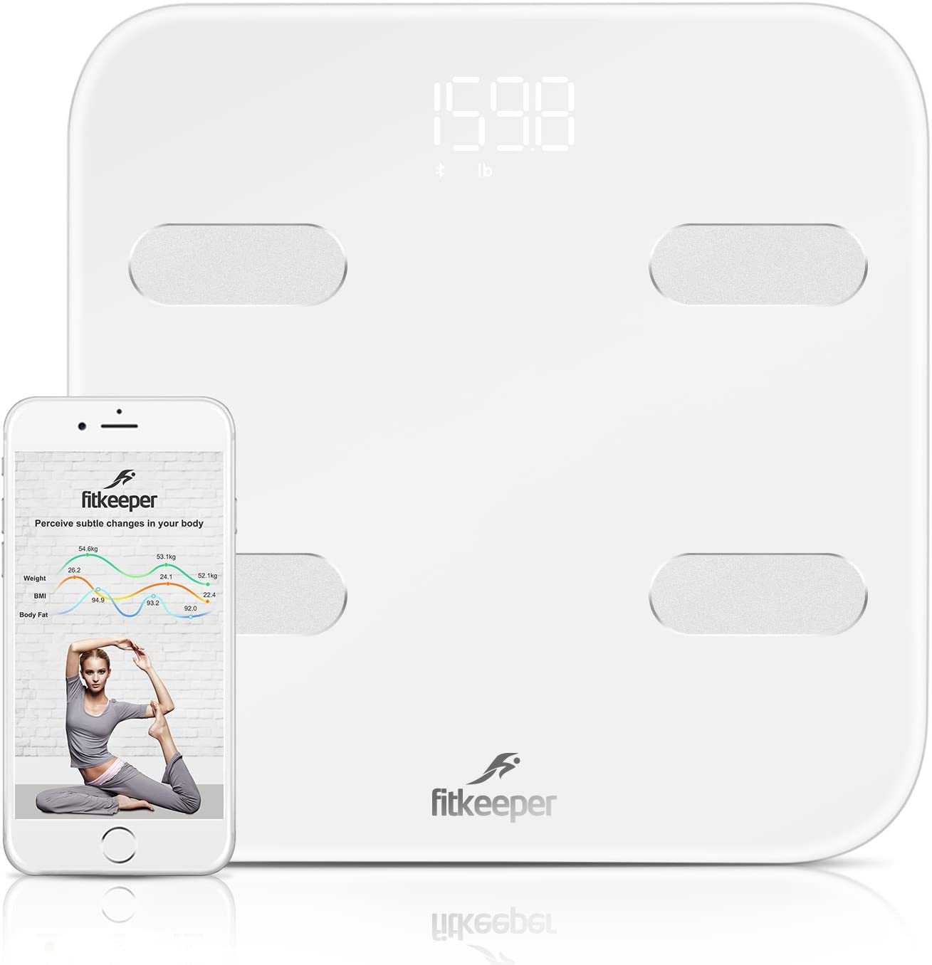 iHealth HS5 Wireless Body Weight//Analysis Scales for iPhone//Android