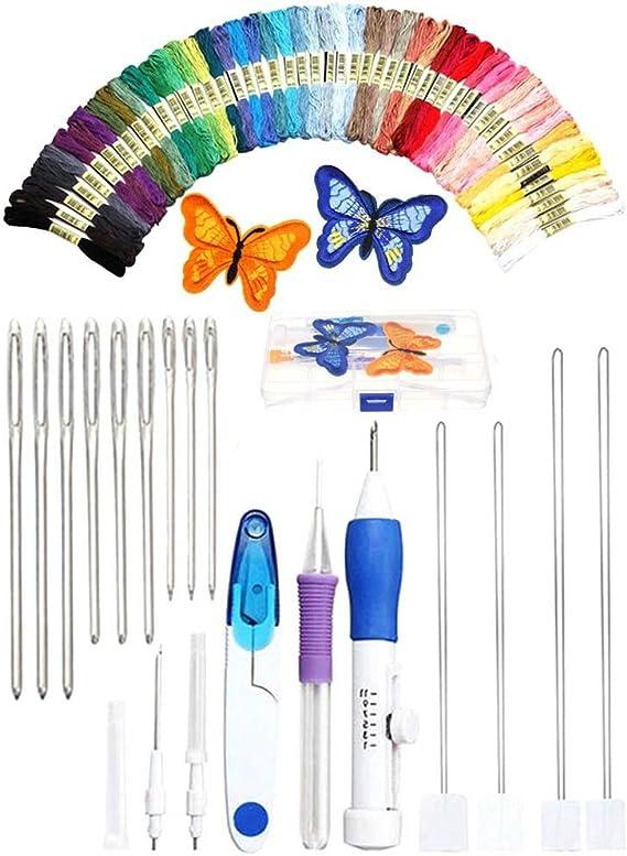 Crewell DIY - Juego de agujas de punzón para coser y bordar + 50 ...