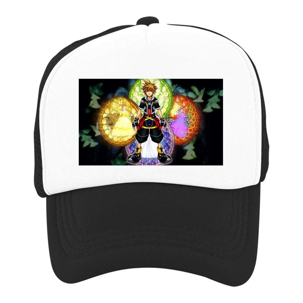 EThomasine Kids Girls Boys Mesh Cap Trucker Hats Kingdom Hearts Adjustable Hat Black