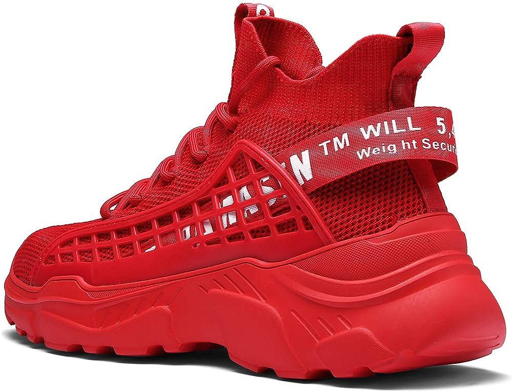 XIDISO - Zapatillas Deportivas para Hombre, Rojo (Rojo), 45 EU: Amazon.es: Zapatos y complementos