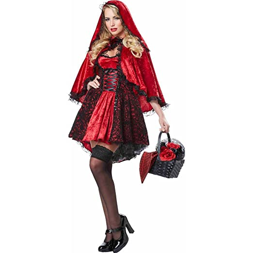03e694624f Amazon.com  California Costumes Women s Deluxe Red Riding Hood  Clothing