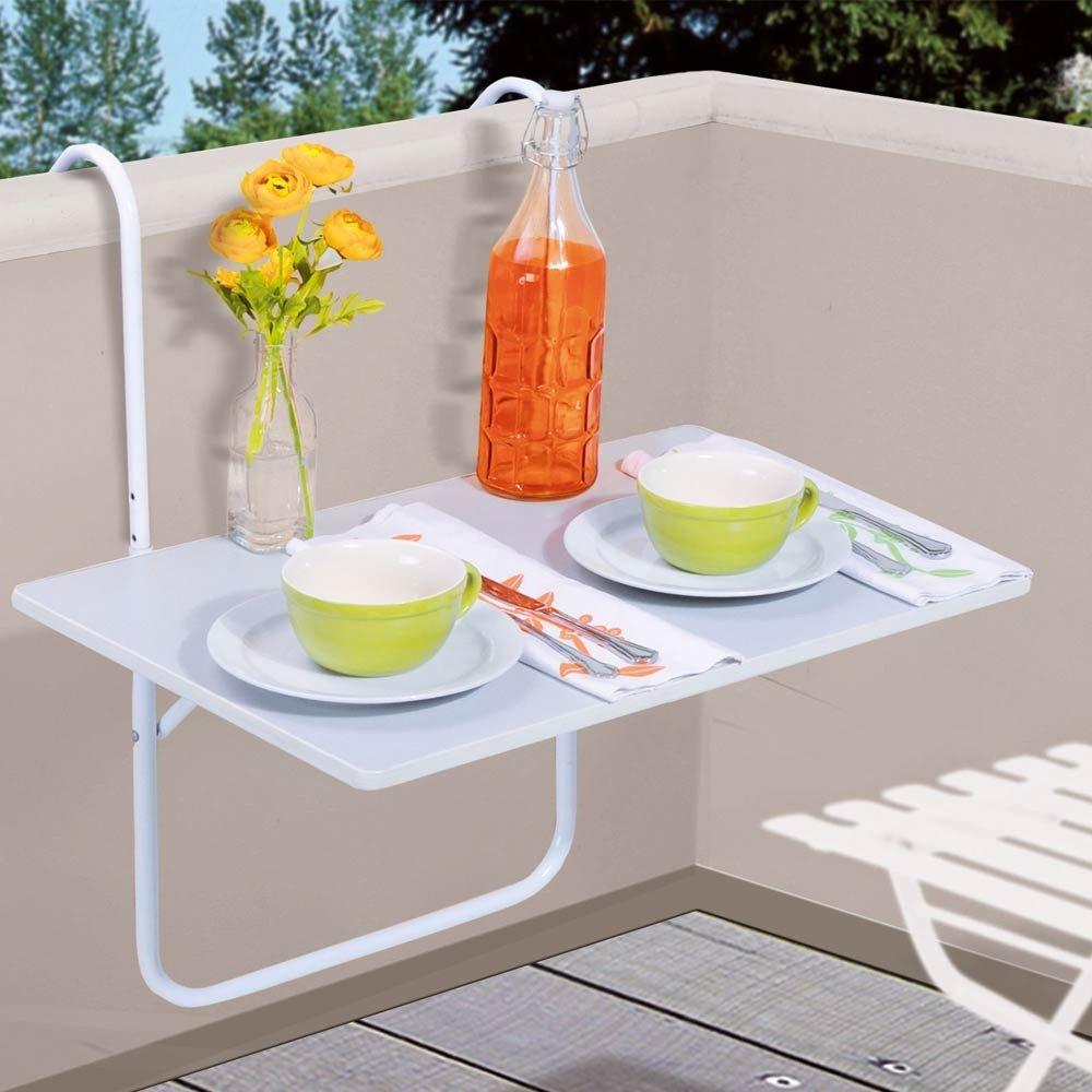 Tavolino appendibile da balcone e terrazzo, 60 x 40 cm, colore ...