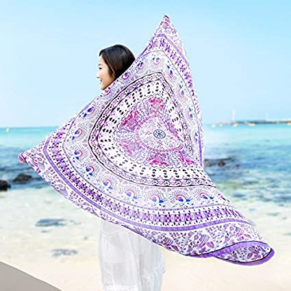 JCDZH-FT Mandala Alfombras Tapices redondo toalla de playa adjunta sofás de tela toalla manteles
