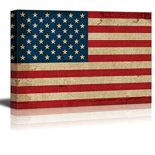 Vintage Texture Over the United States Flag Nature