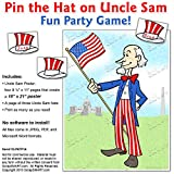 ScrapSMART - Pin the Hat on Uncle Sam - Party Game - PDF, DOC, and Jpeg Files for Mac [Download]