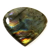 Gems&JewelsHub 29.20CTS lampeggiante naturale della pietra preziosa labradorite a forma di cuore cabochon trattata
