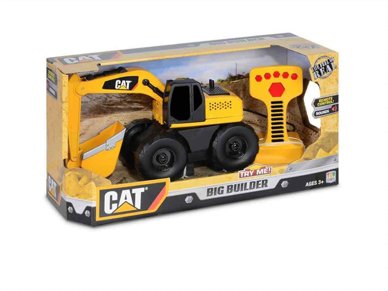 Toy State Cat veicoli da cantiere públicas e costruzioni Big Builder remoto (con cavo) ruspa TYS36639